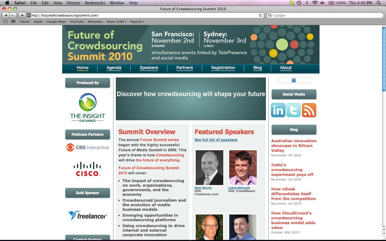 Future of Crowdsourcing Summit 2010